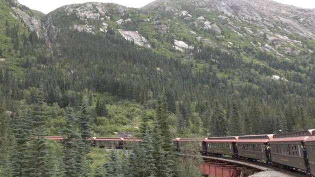 Scenic Train From Alaska to Canada's Yukon