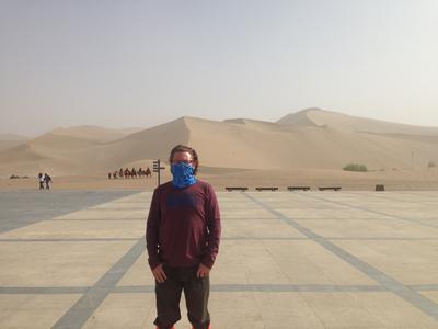 Craig in the Gobi Desert.