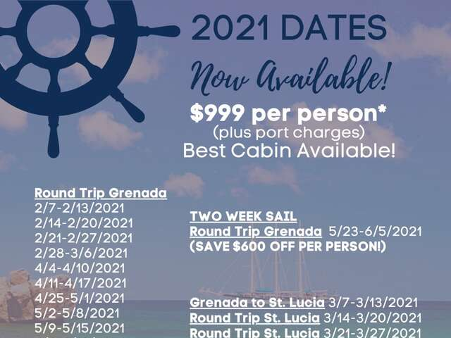 Sail Windjammers 2021 Available Dates