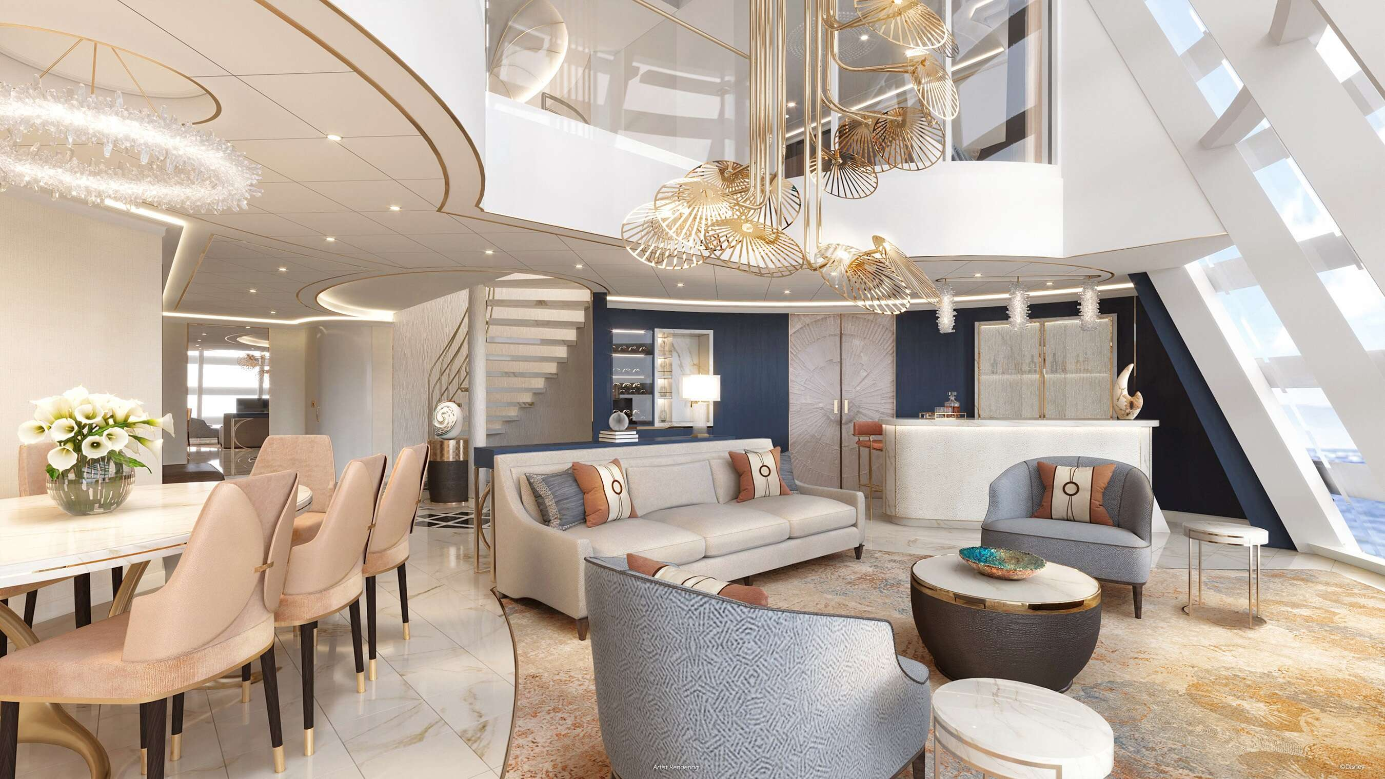 Get a Sneak Peek At The First-Ever Disney Cruise Line Funnel Suite