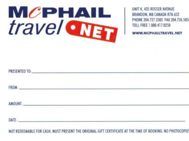 McPhail Travel Gift Cards