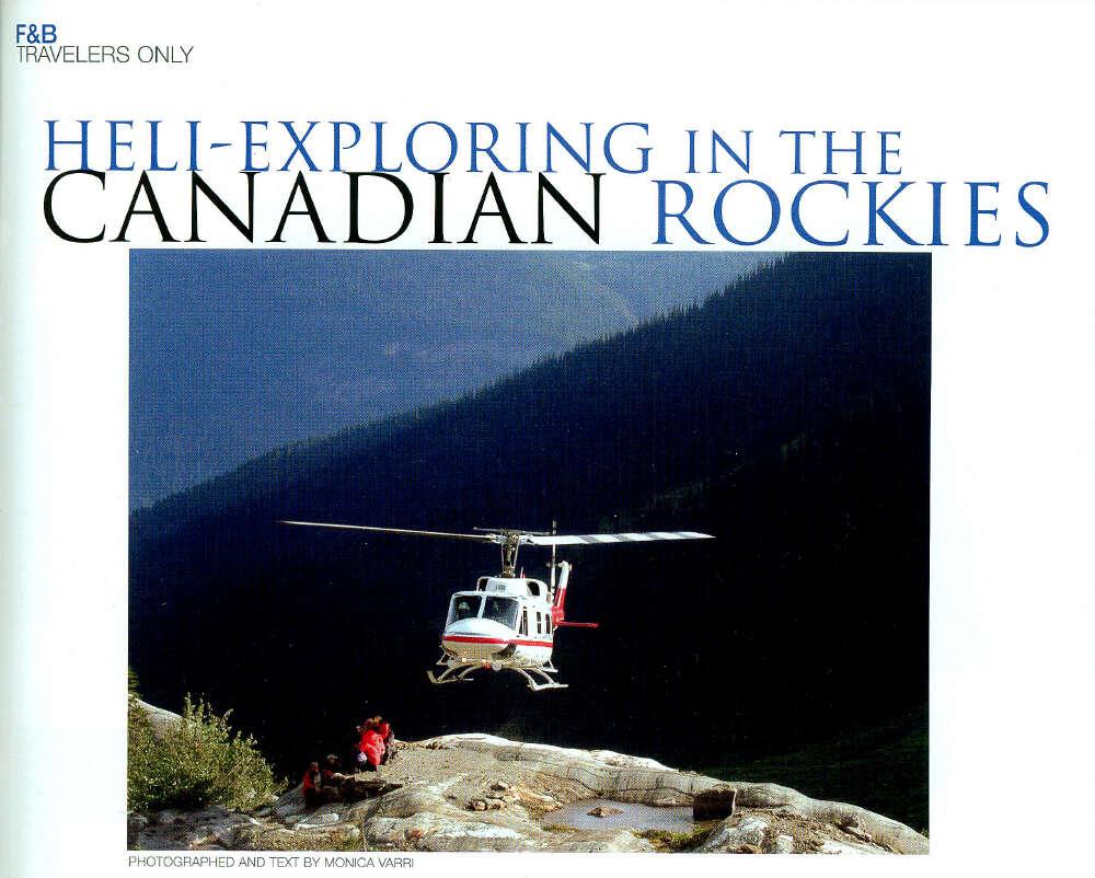 Heli Exploring in the Canadian Rockies