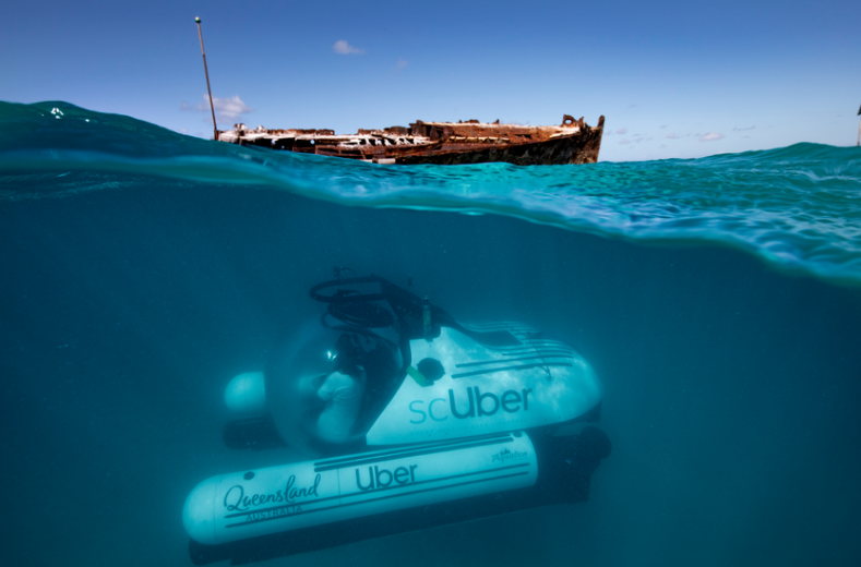 The World's First Underwater Ride Share: Now You Can Take a 'ScUber' in Australia's Great Barrier Reef
