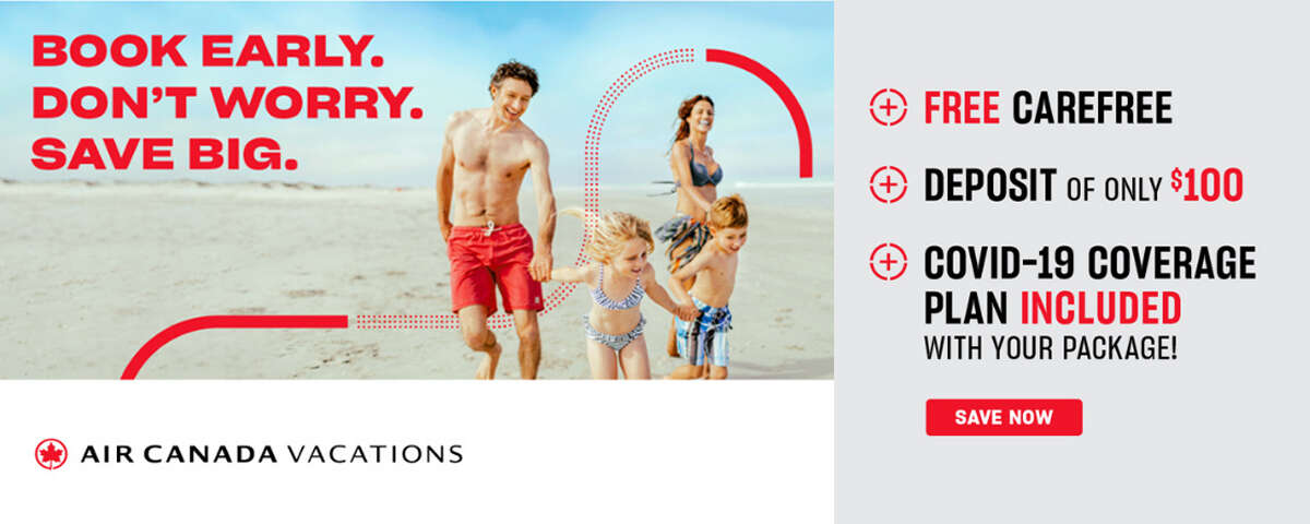 Air Canada Vacations - Up to 50% Off Sunny Escapes PLUS COVID-19 Coverage