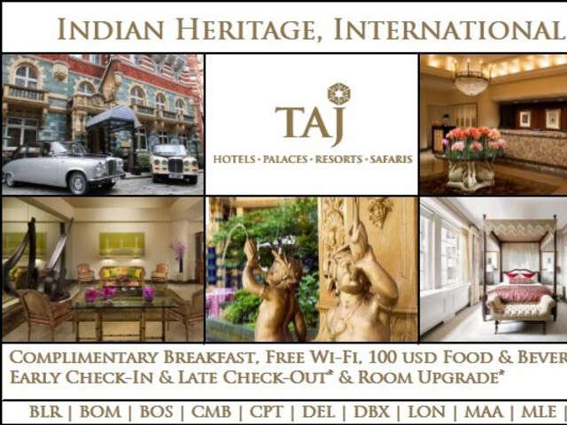 SELECT Tajness! Indian Heritage, International Luxury