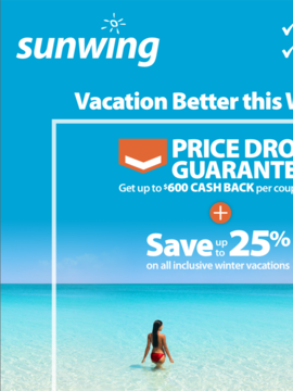 Sunwing - BEST Early Booking Winter Incentive Ever!