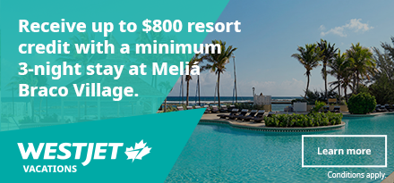 WestJet Vacations Oct 2019