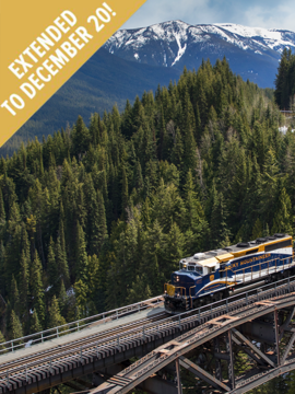 Rocky Mountaineer Peak 3 Promotion - Extended to December 20!