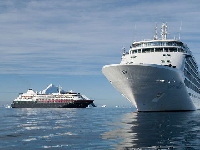 Two Silversea Ships Meet As Silver Whisper Visits Antarctica On A World Cruise