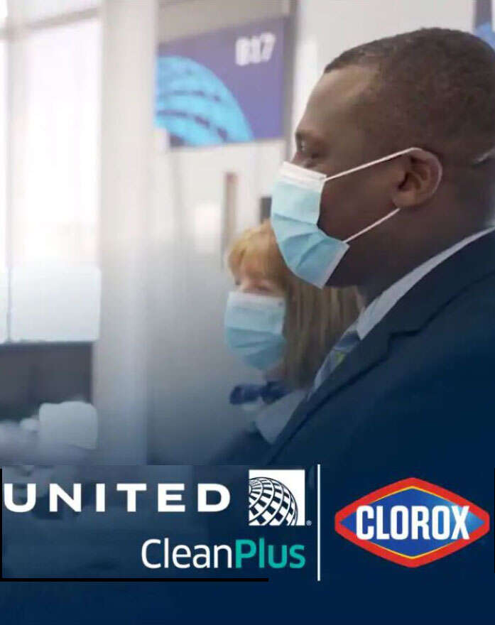 United teams with Clorox to redefine cleaning and disinfection procedures