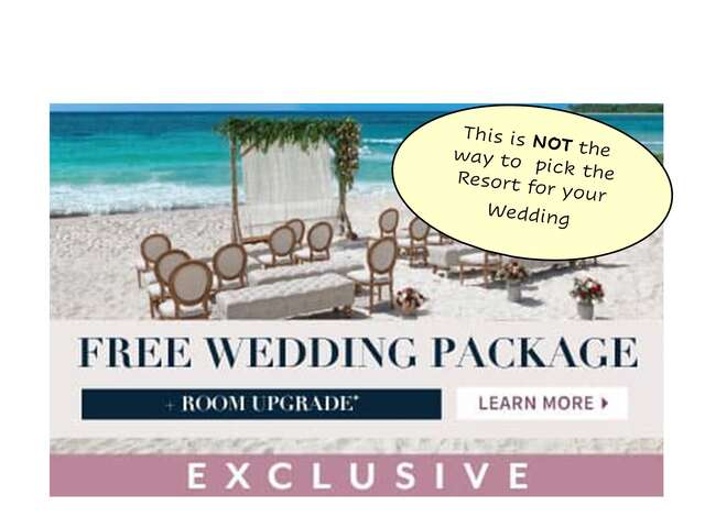 How to Choose the Best Resort for your Wedding