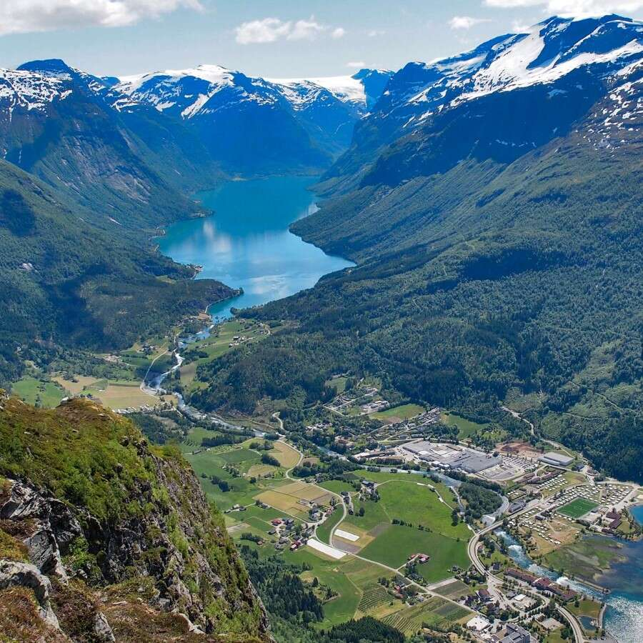 A view from the top - Loen, Nordfjord, Norway