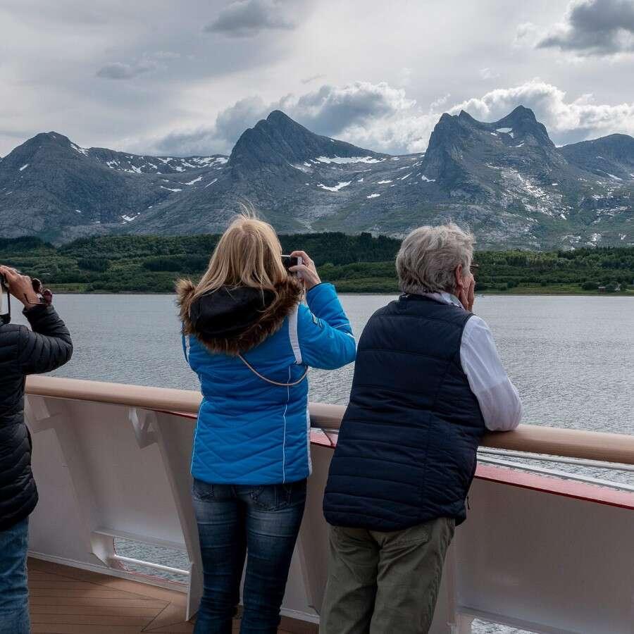 Crossing the Arctic Circle - At Sea