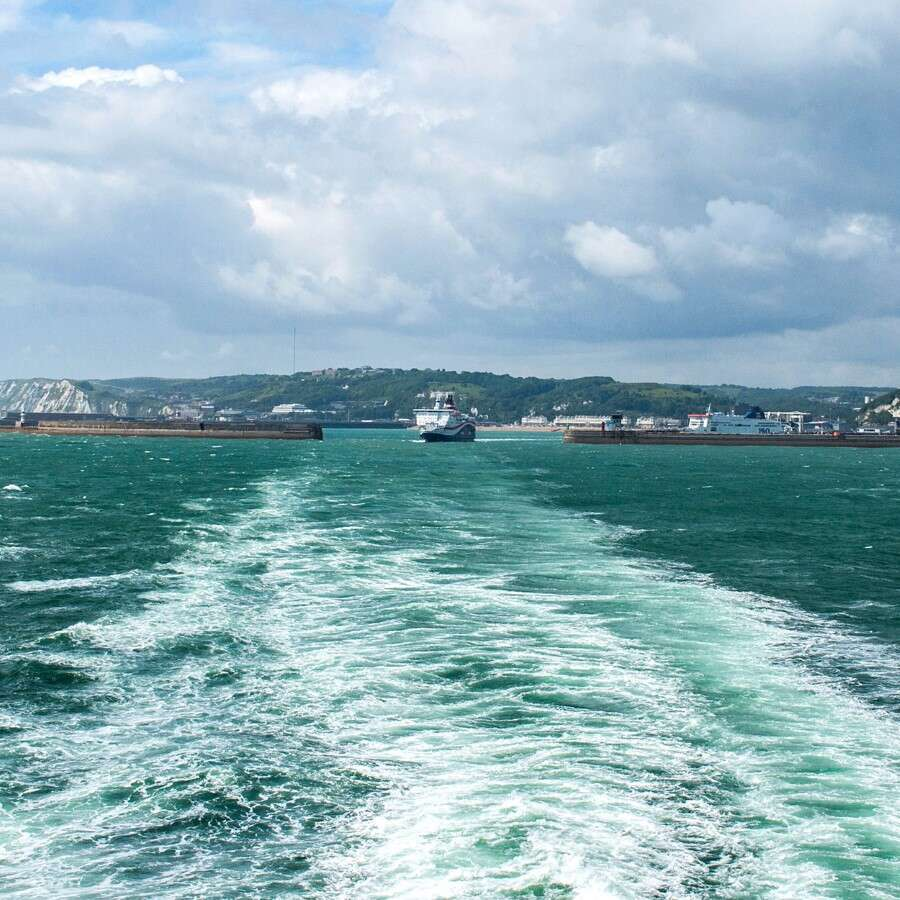 Setting off from the White Cliffs  - Dover, U.K.