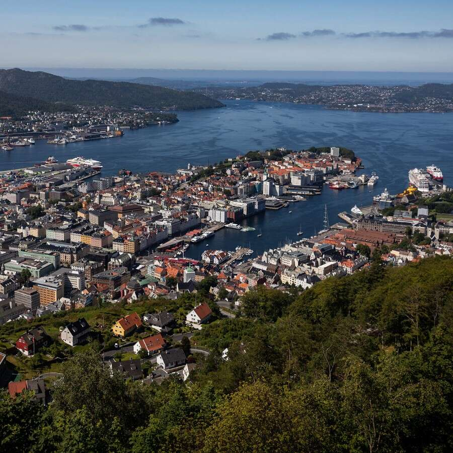 Historic Hanseatic coastal capital - Bergen Norway
