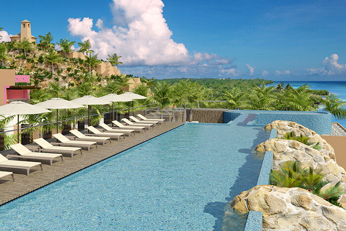 Hotel Xcaret Mexico rooftop pool