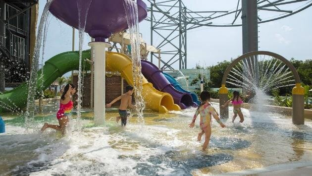 Dreams Natura Resort & Spa's splash park.