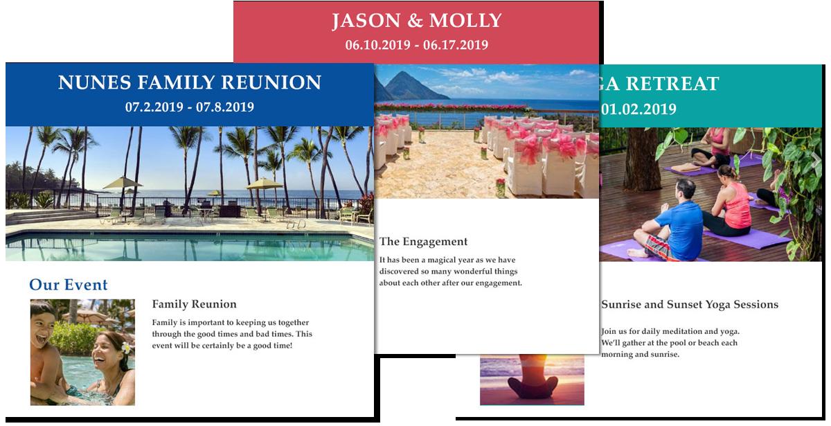 custom groups website examples