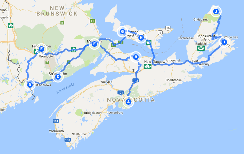 Part one of our Maritime & Newfoundland tour.