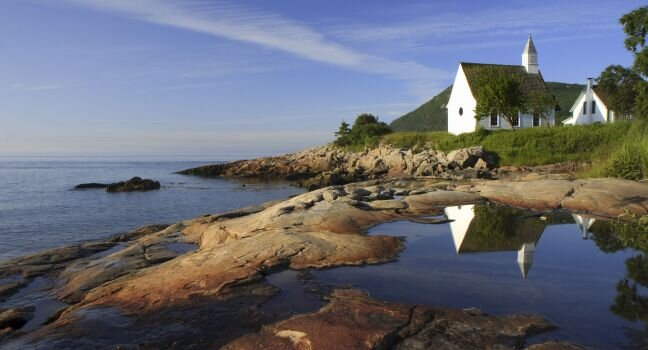 The Charlevoix region, along the St. Lawrence River, is one of the most breathtaking areas of Quebec.