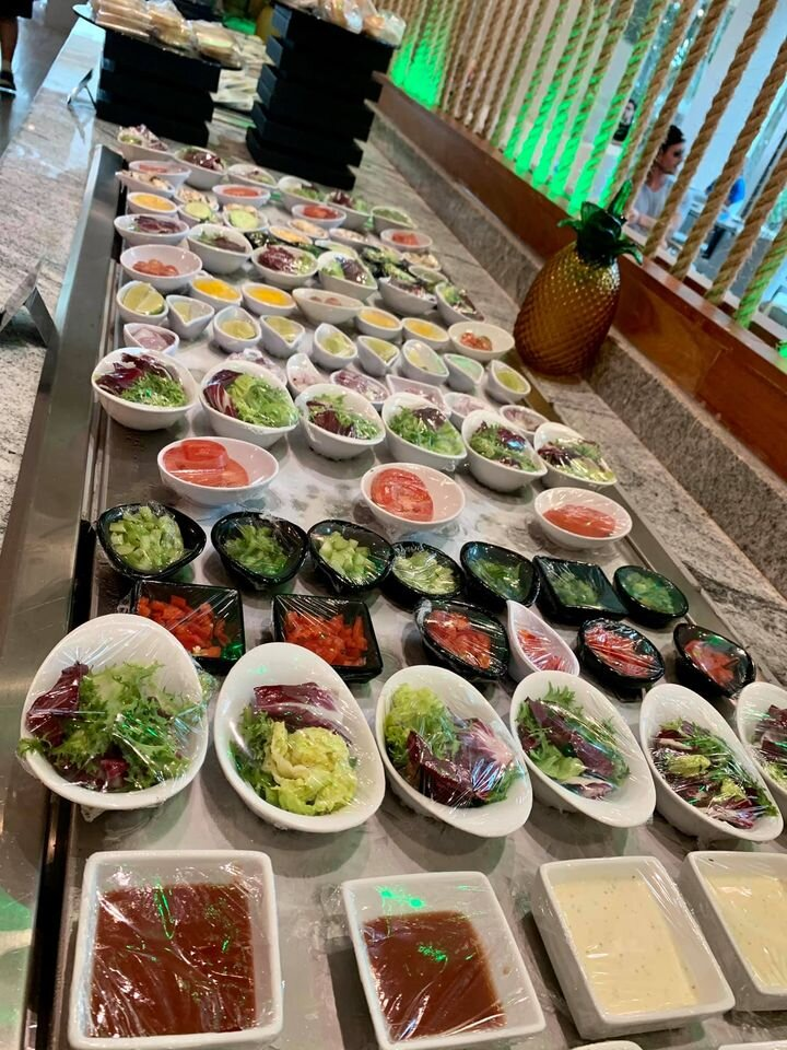 Breakfast Buffet at Siete - Live Aqua Cancun - All individually wrapped