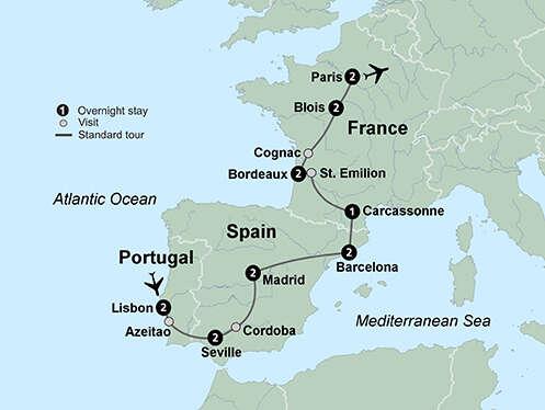 Portugal, Spain & France