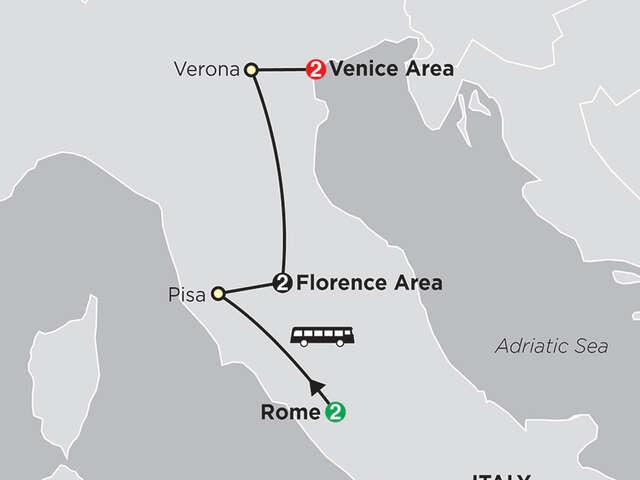 Rome, Florence, Venice