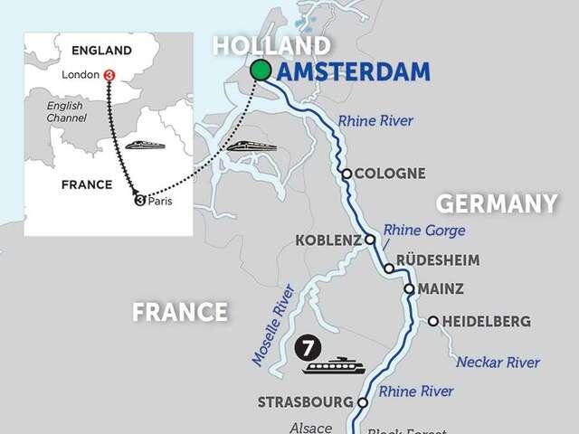 Festive Time on the Romantic Rhine with Lucerne, Paris & London