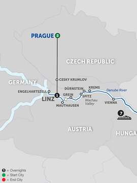 Active Discovery on the Danube with Prague - Eastbound