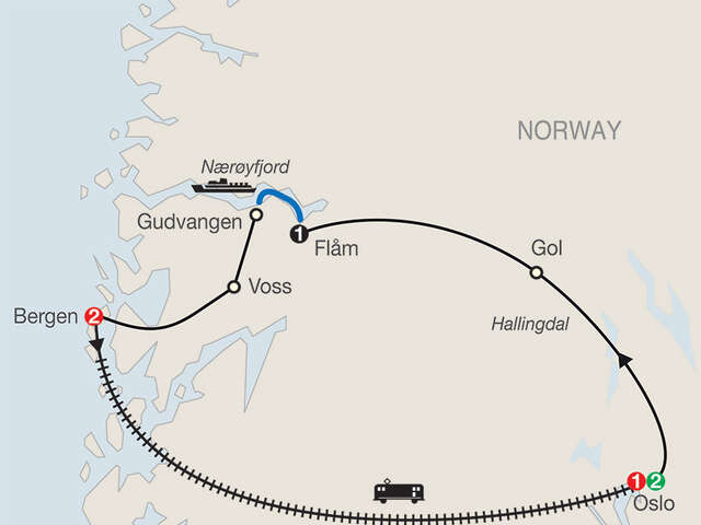 Norwegian Fjords Escape with Return to Oslo