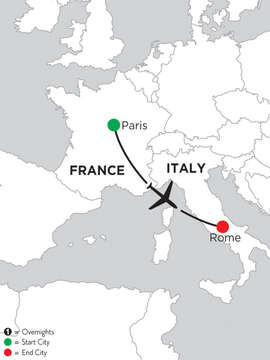 3 Nights Paris & 4 Nights Rome
