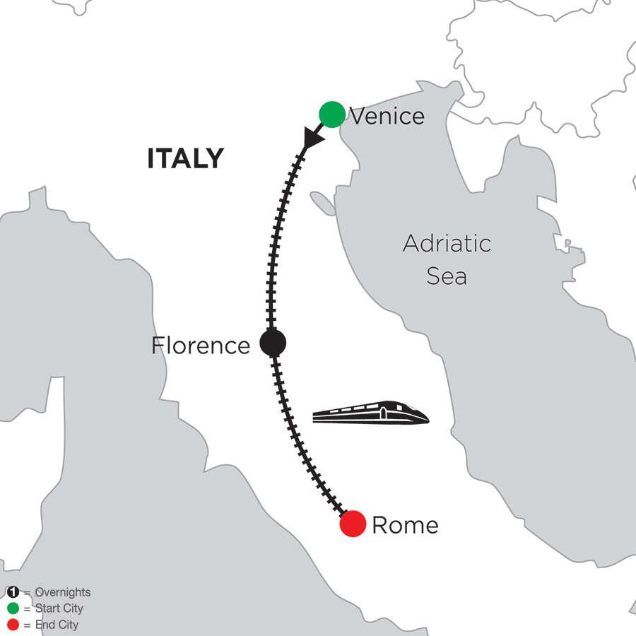2 Nights Venice, 2 Nights Florence & 5 Nights Rome