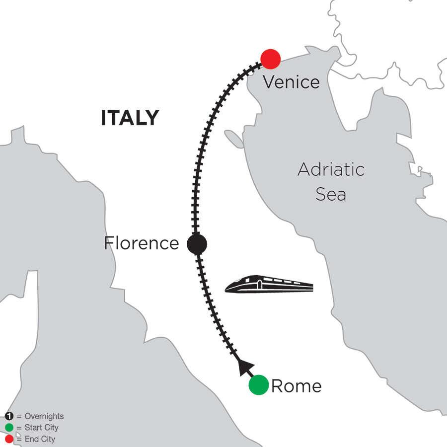 2 Nights Rome, 4 Nights Florence & 5 Nights Venice
