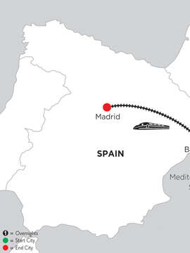 2 Nights Barcelona & 3 Nights Madrid