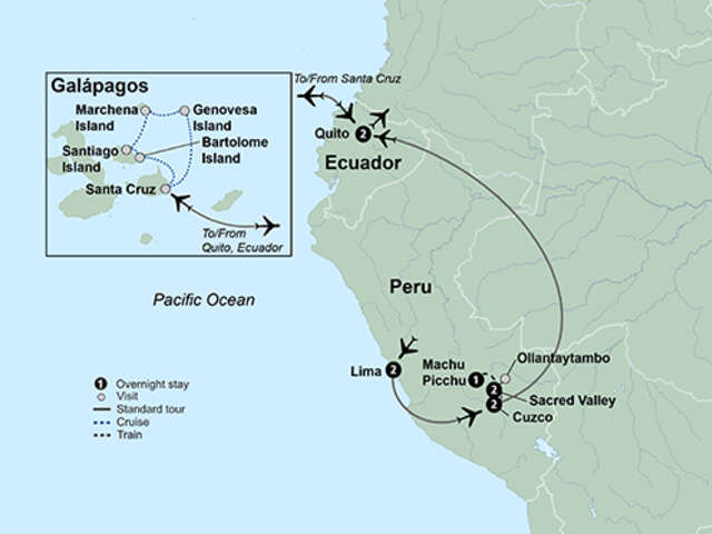 Machu Picchu & Galapagos Wonders featuring a 4-Night Cruise