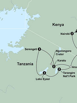 African Safari: Kenya and Tanzania