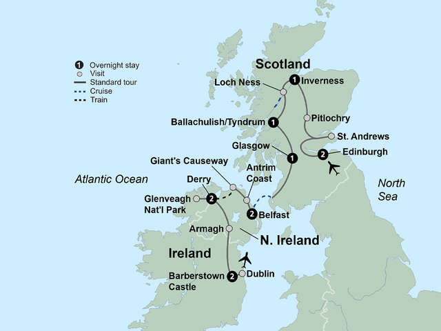 Exploring Scotland & Ireland featuring Northern Ireland